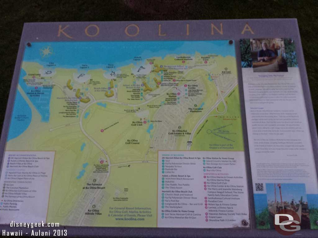 A map of Ko Olina  #Aulani is by lagoon 1