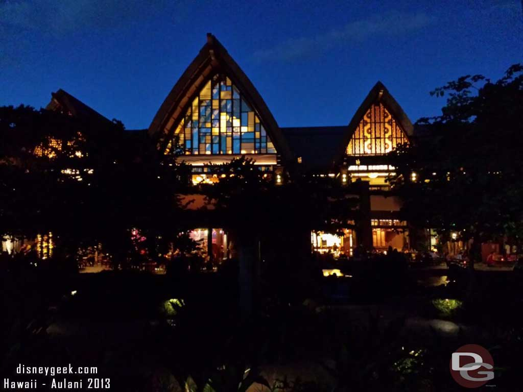 Looking toward the lobby building #Aulani