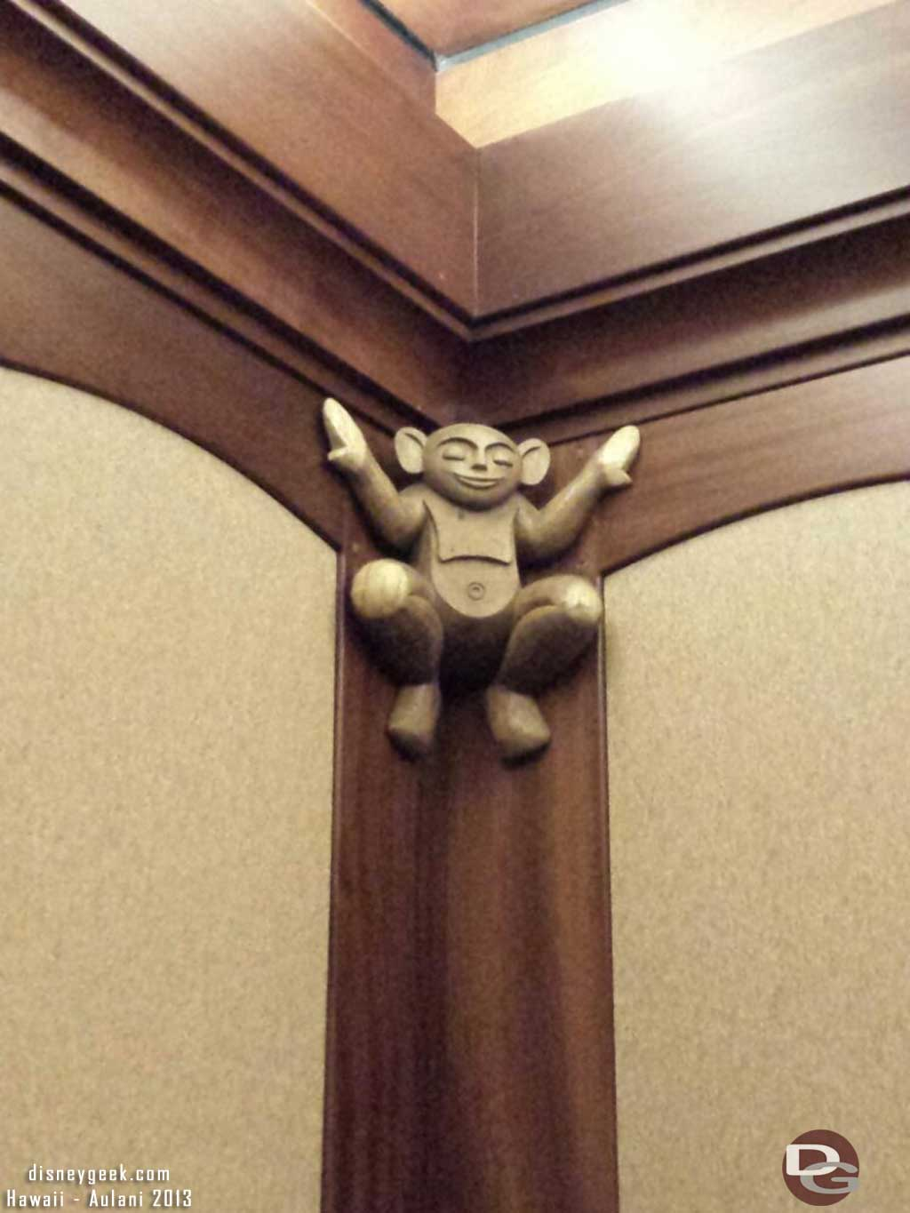 A Menehune hanging around in an elevator #Aulani