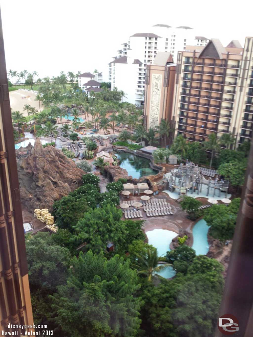 Looking down from the Ewa tower #Aulani