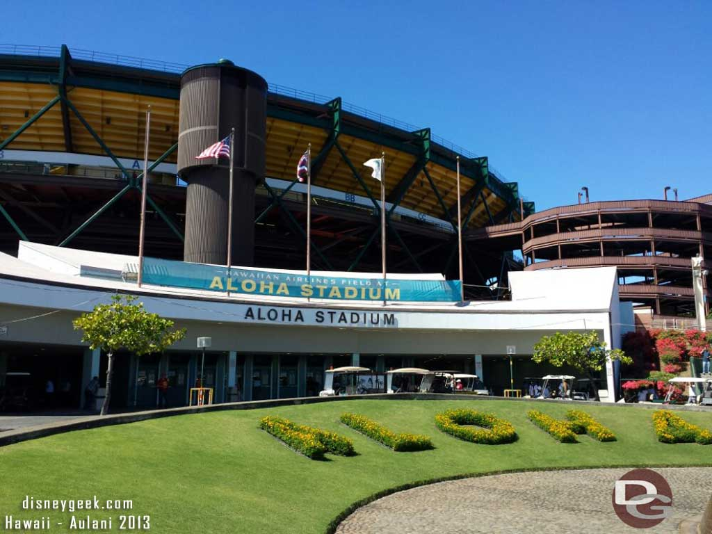 At Aloha Stadium for the USC vs Hawaii game.  FightON!