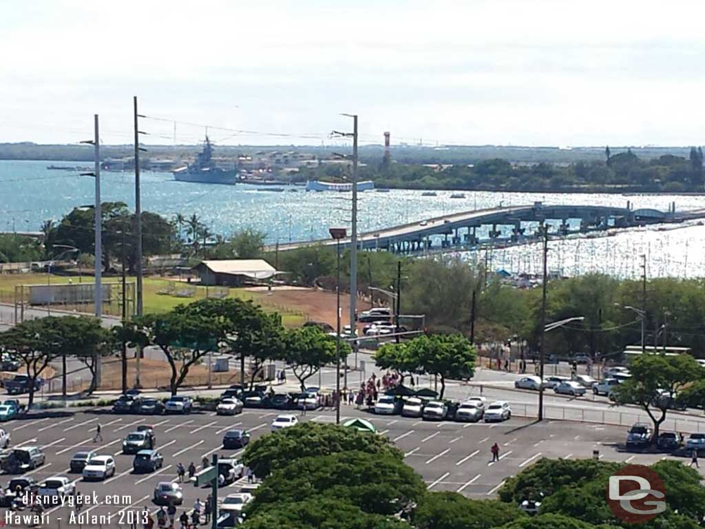 Pearl Harbor from Aloha stadium #Hawaii