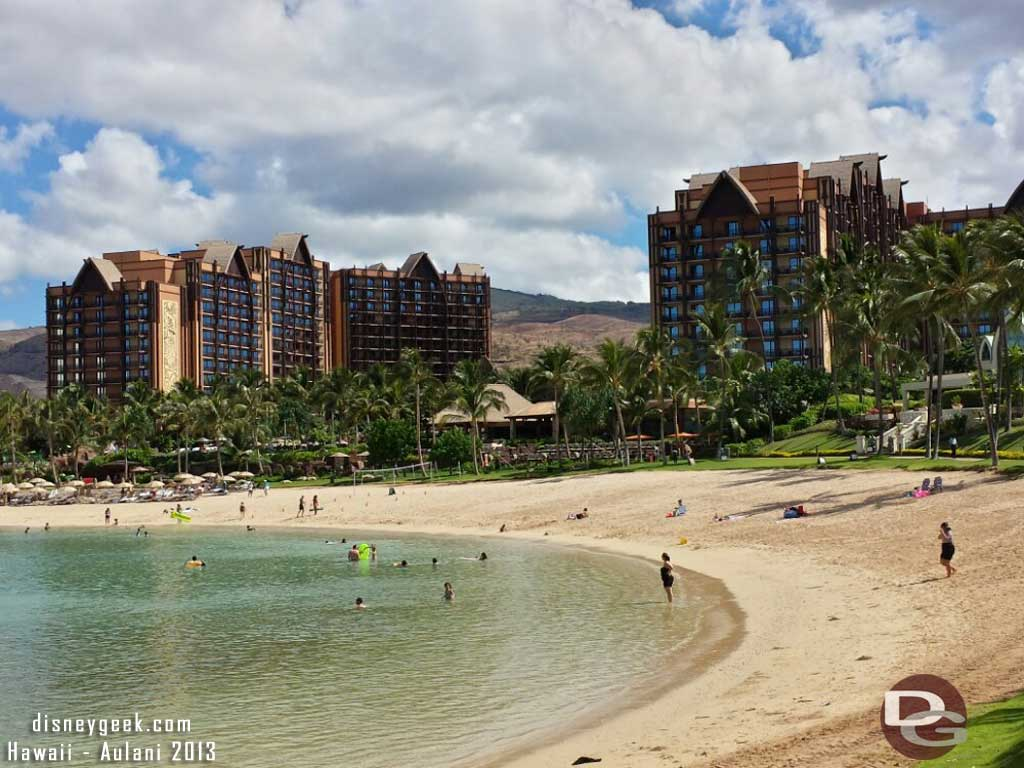 A better picture of #Aulani from the lagoon