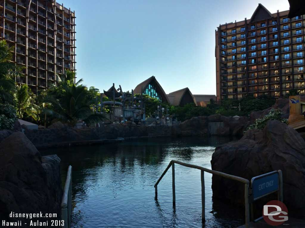 Looking over the reef and toward the lobby #Aulani