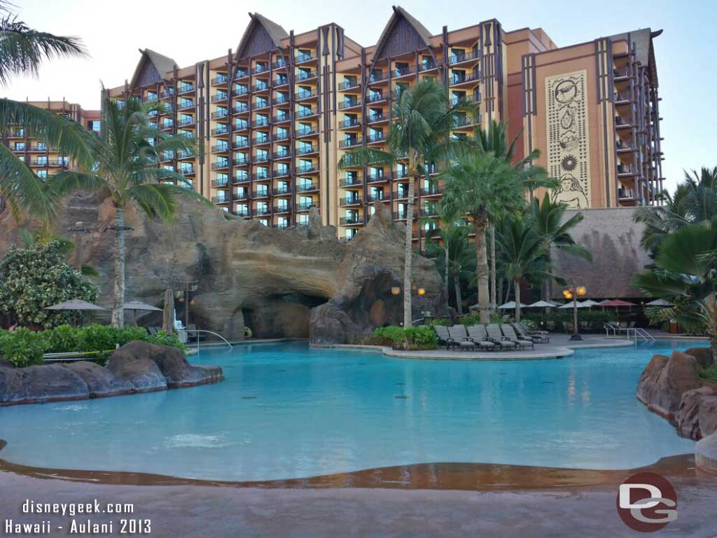 The pool and Ewa tower #Aulani