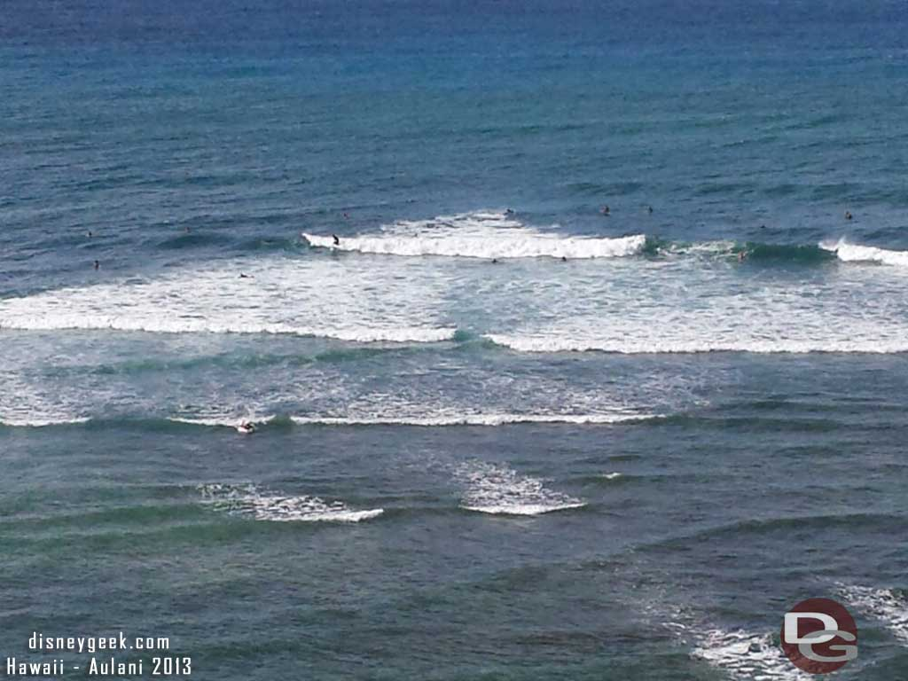 A look down at some surfers #Hawaii