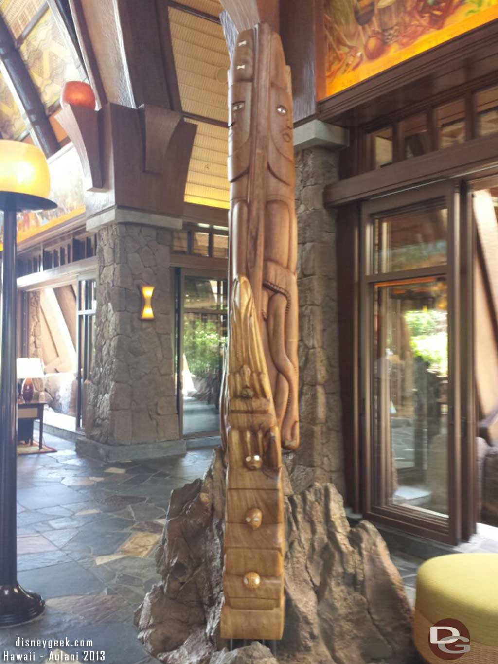 Back at #Aulani one of the sculptures in the lobby