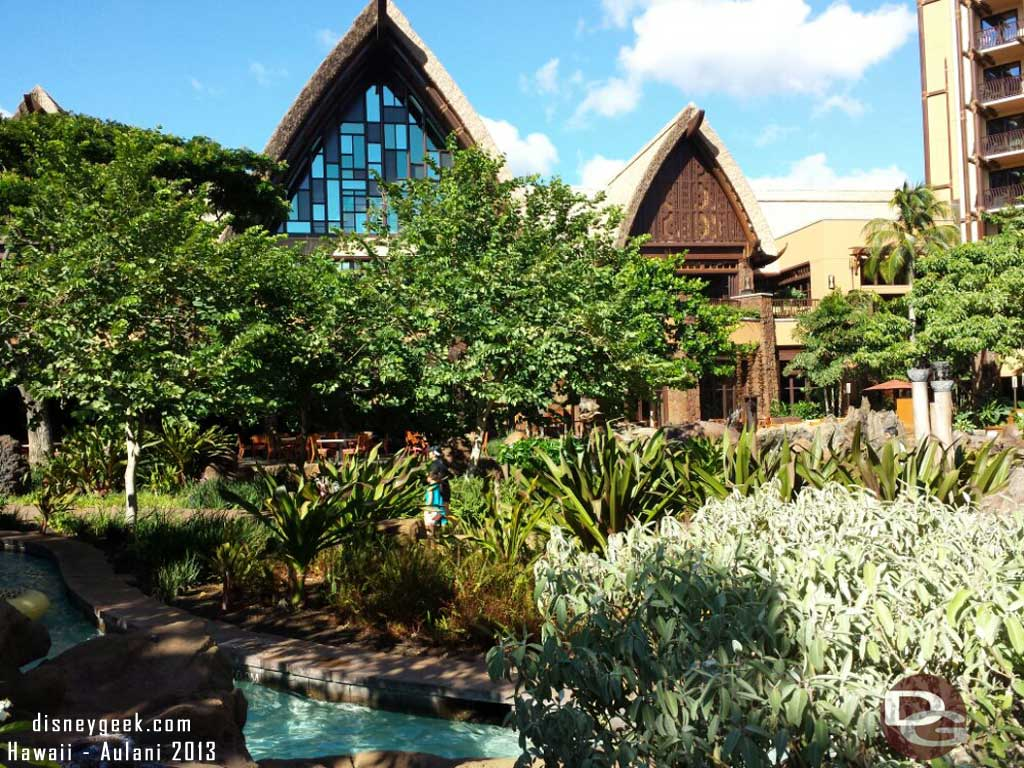 Looking towards the lobby from the valley #Aulani