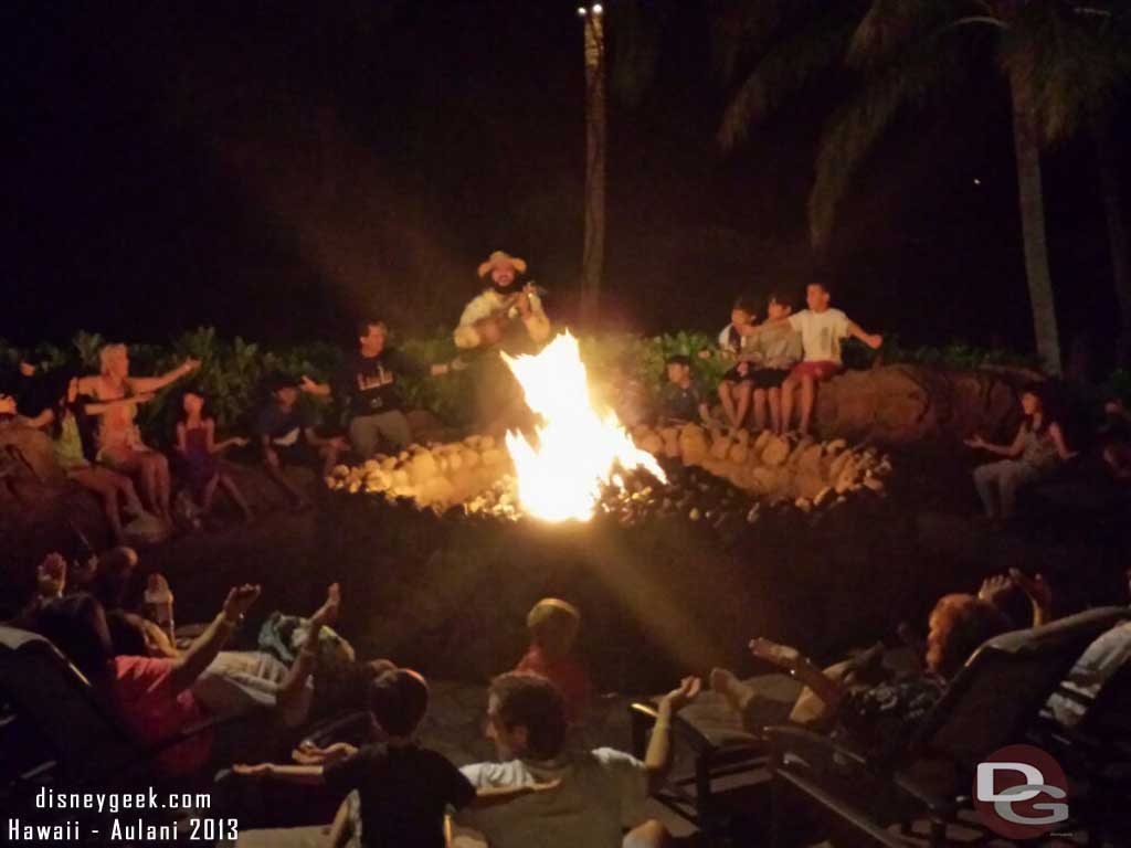 Stopped by the Circle of Alae Ula for Mo'Olelo Fire Pit Storytelling #Aulani