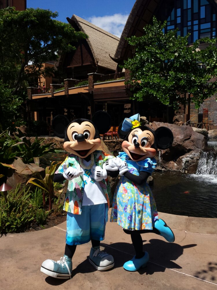 Mickey and Minnie #Aulani (from the other day)