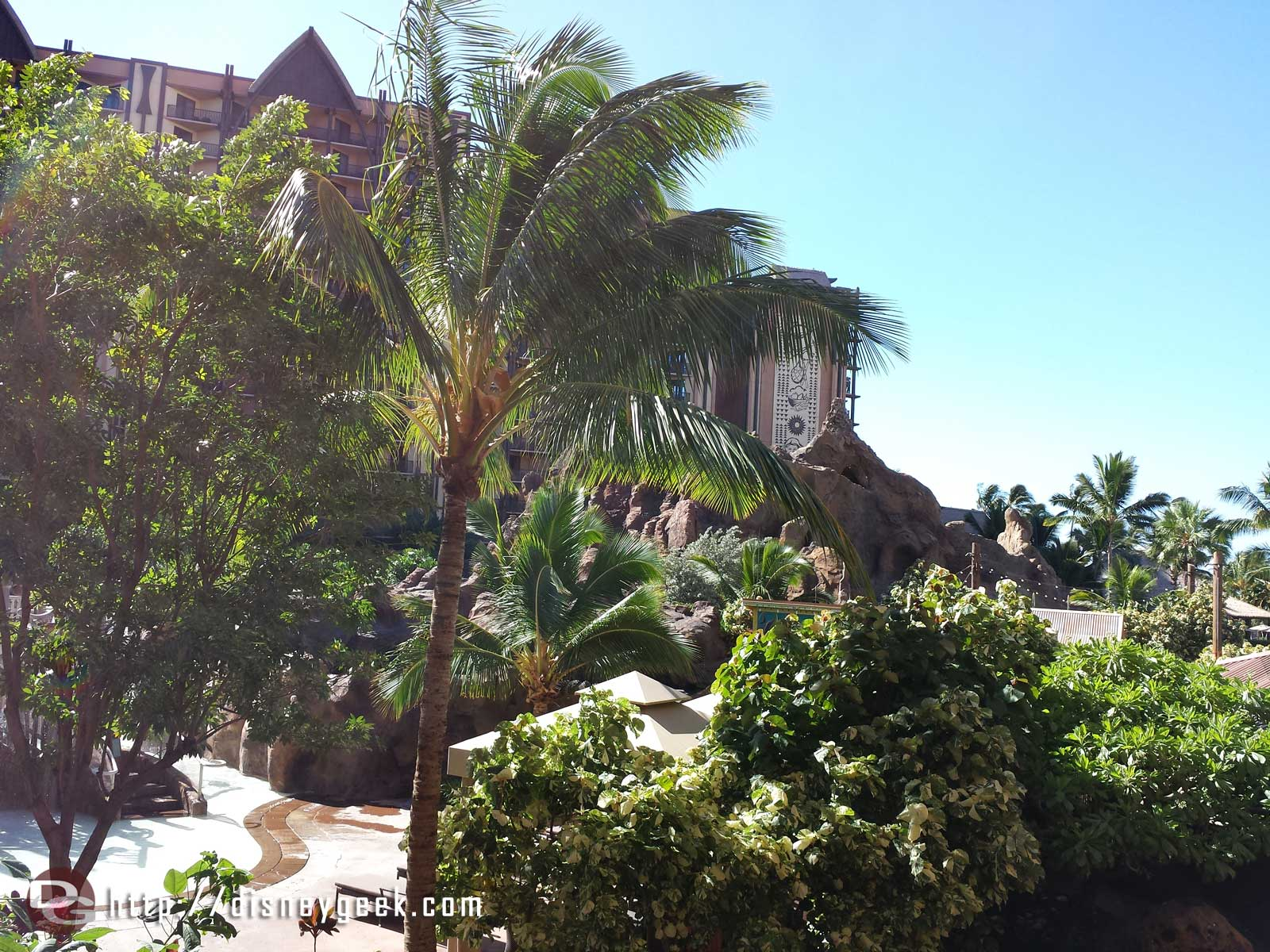 Enjoying the view from our balcony at #Aulani before checking out of the room