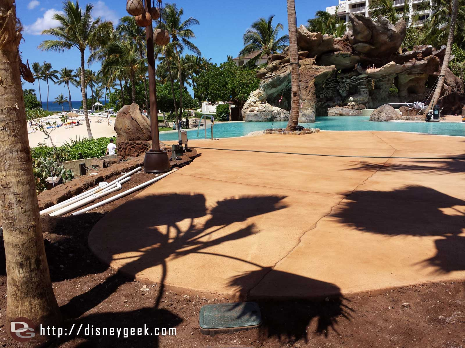 Panning a little left to the new pool area #Aulani