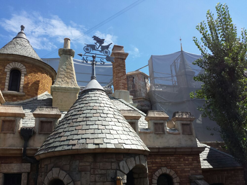The Fantasyland rooftops look about the same as last visit