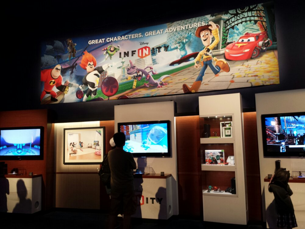 Disney Infinity has taken over the XBox area of Innoventions