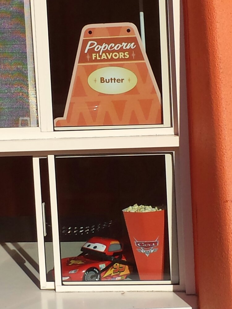 the Cozy Cone only has one flavor of popcone today, butter #CarsLand