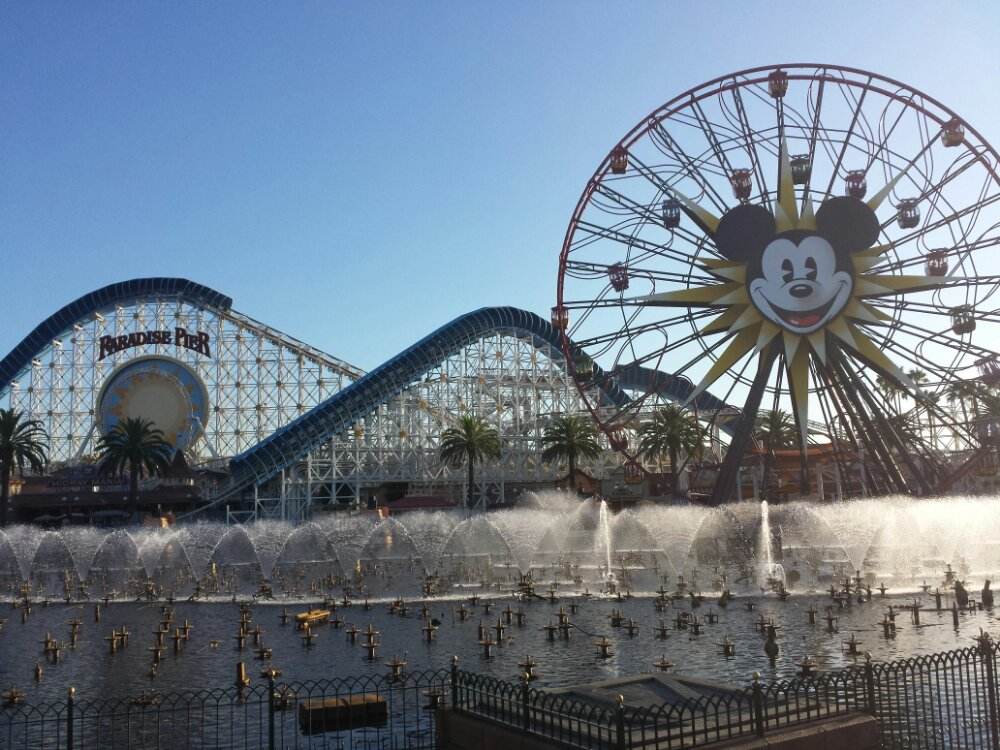 World of Color fountain testing underway for tonight's show
