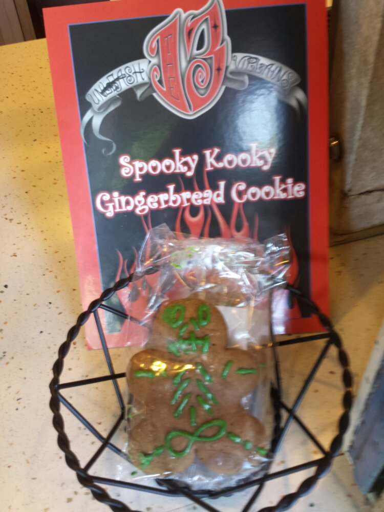 the Spooky Kioky Gingerbread Cookie is $3.59 plus tax