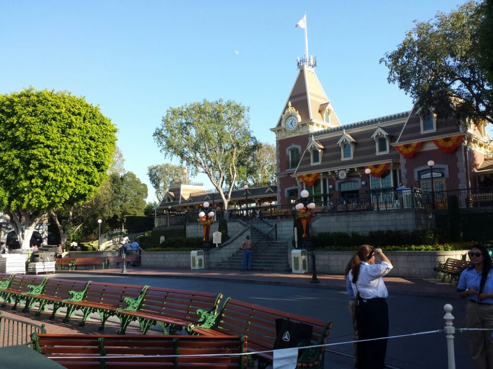 Part of Town Square is blocked off as they set up for tonights Party Like A Villain #LimitedTimeMagic