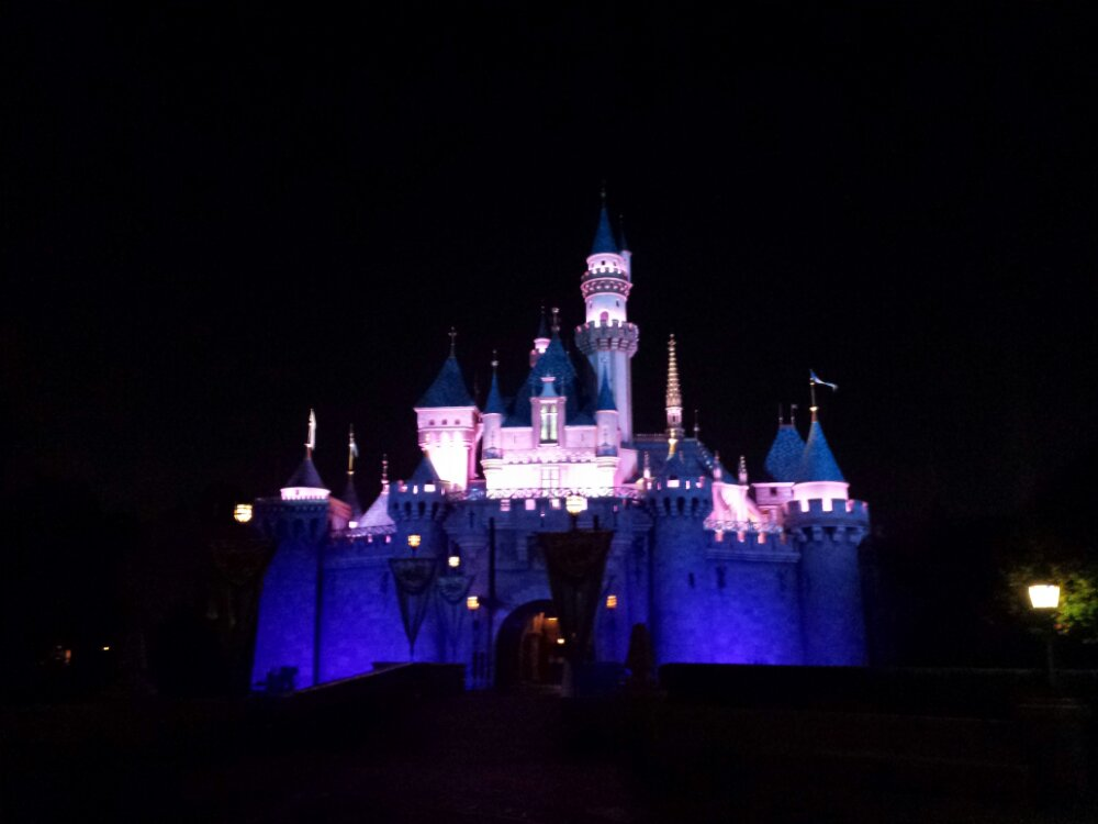 Sleeping Beauty Castle this evening