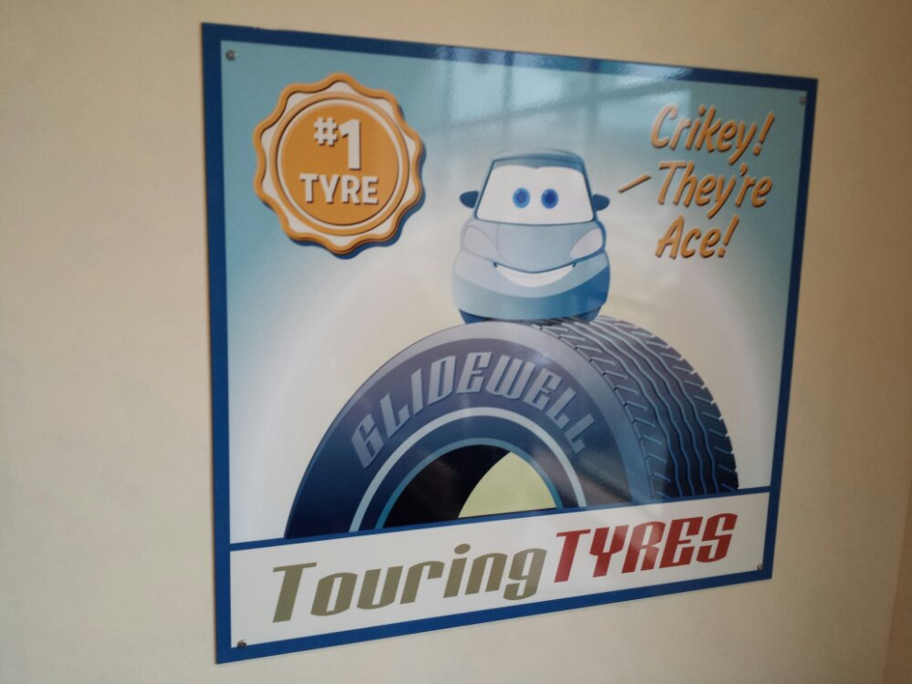 A random Flying Tires queue poster #CarsLand