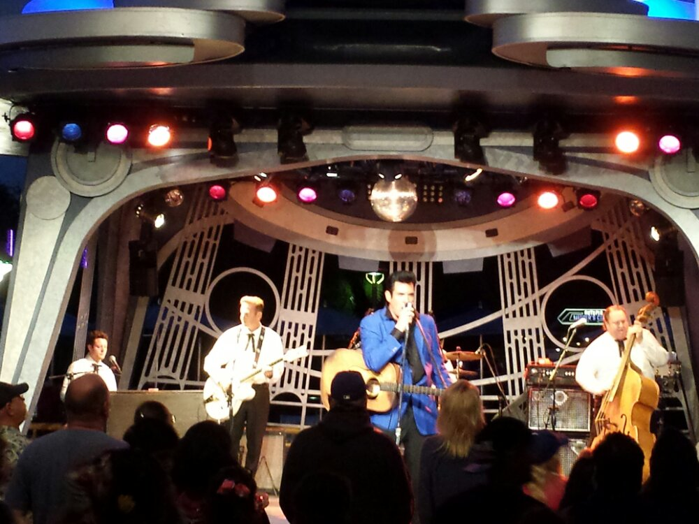 Elvis, Scot Bruce is at the Tomorrowland Terrace tonight
