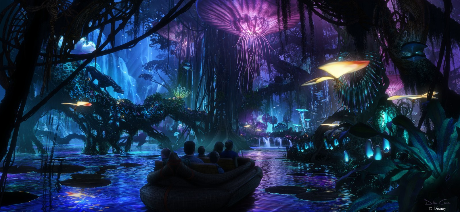 Disney's Animal Kingdom Avatar-inspired Land and Nighttime announcements Concept Art