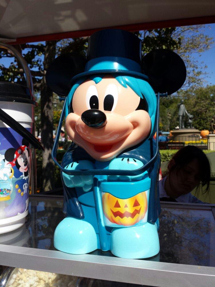 Halloween Mickey popcorn buckets
