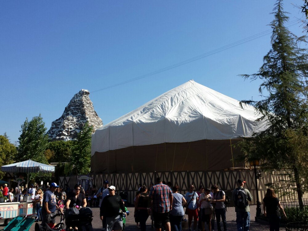 King Arthur Carrousel is completely underwraps as the rennovation work continues