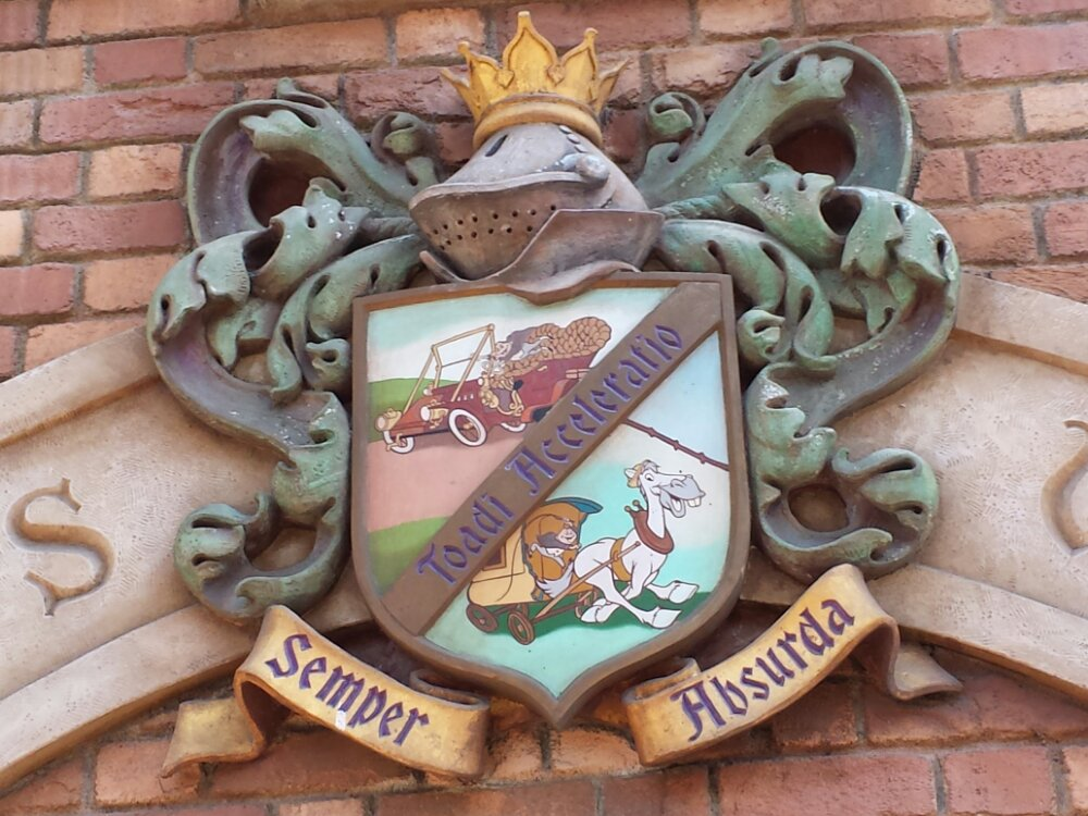 Random pic as I walked by Toad Hall Shield