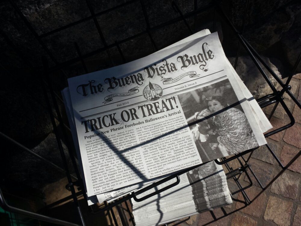 The Fall/Halloween Edition of the Buena Vista Street Bugle is on newsstands