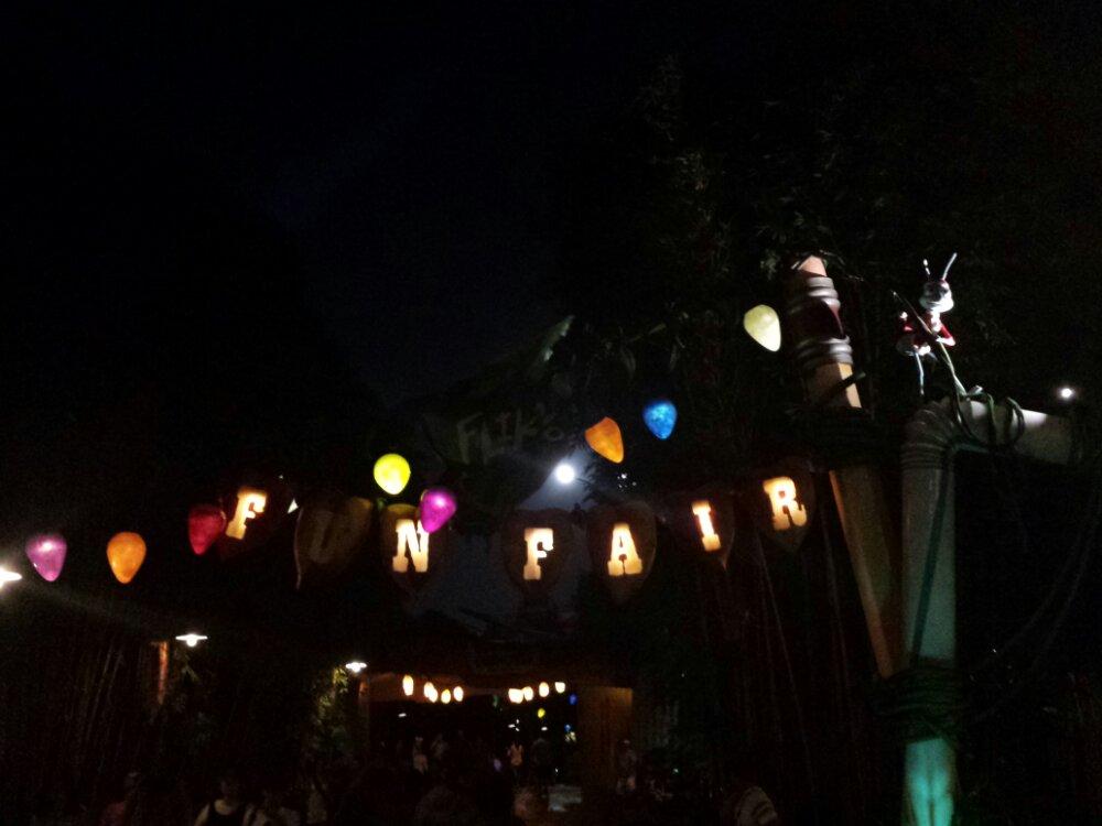 Fliks Fun Fair has Christmas lights up and on as well as Santa Flik