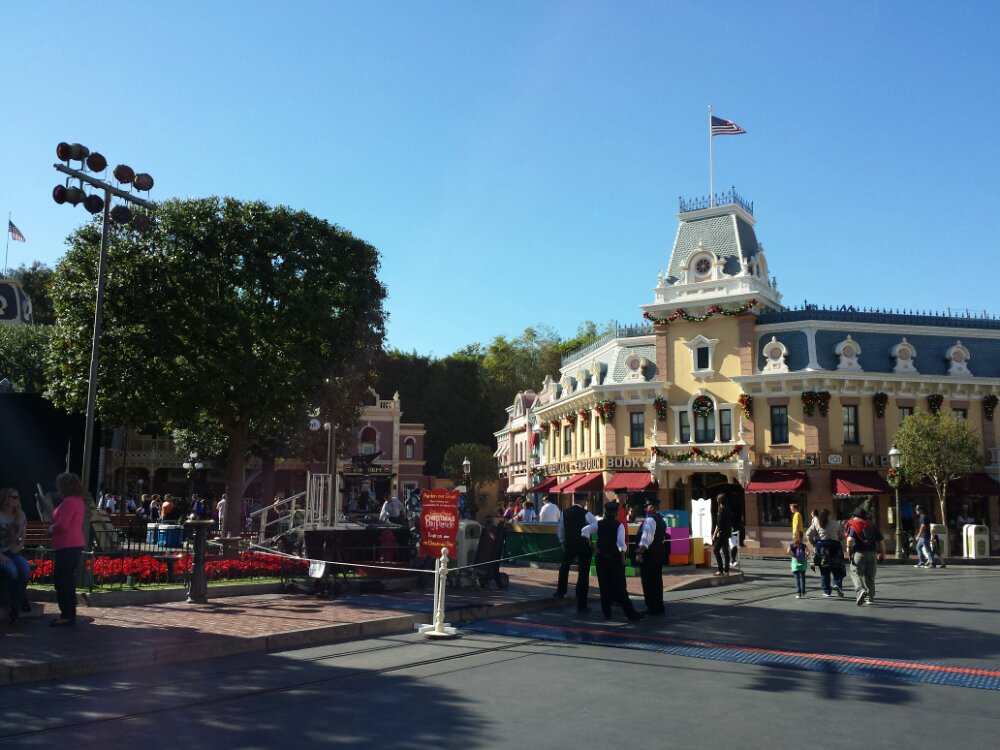 No tree on Main Street yet, instead preparations for the Christmas parade taping this weekend