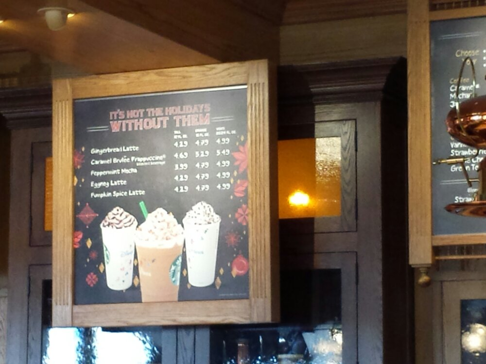 The Market House Starbucks has its holiday menu