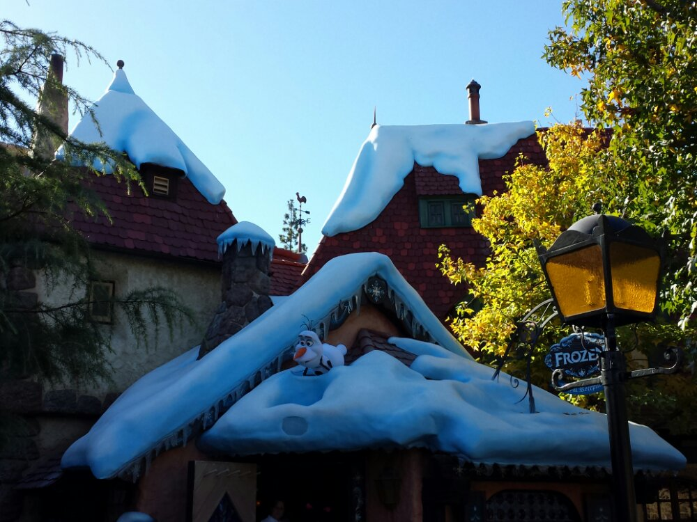 Frozen has taken over where Tangled used to be in Fantasyland