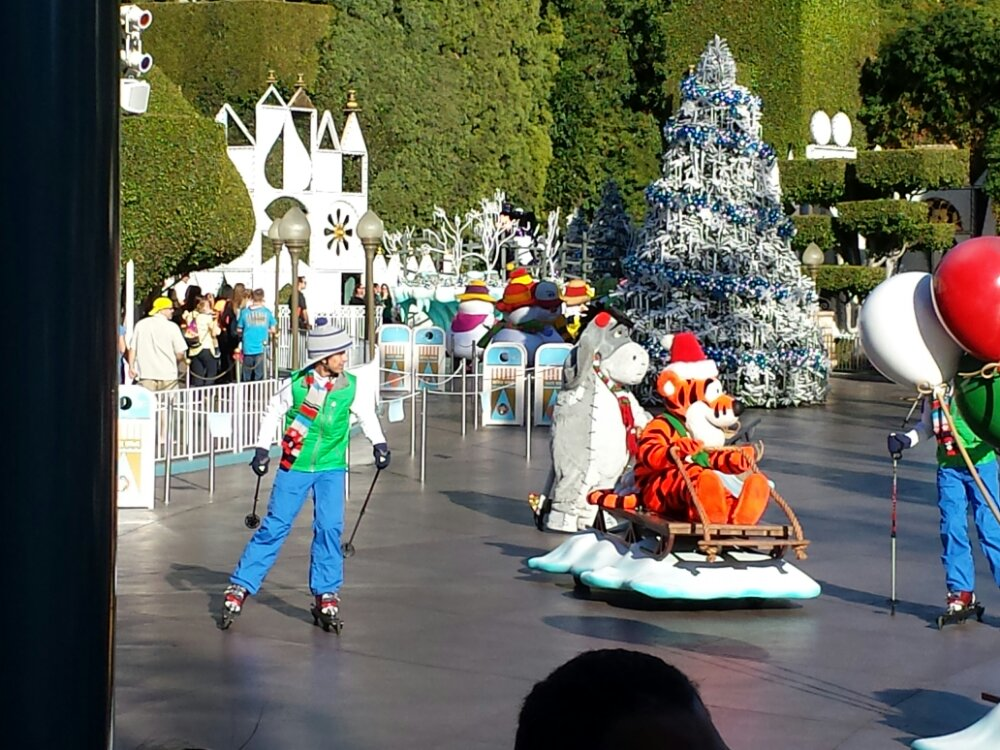 Skiers have been added to the Winter Wonderland segment