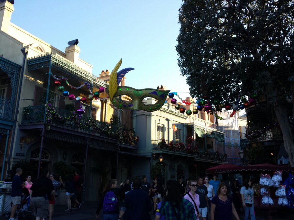 A new mask as New Orleans Square this year