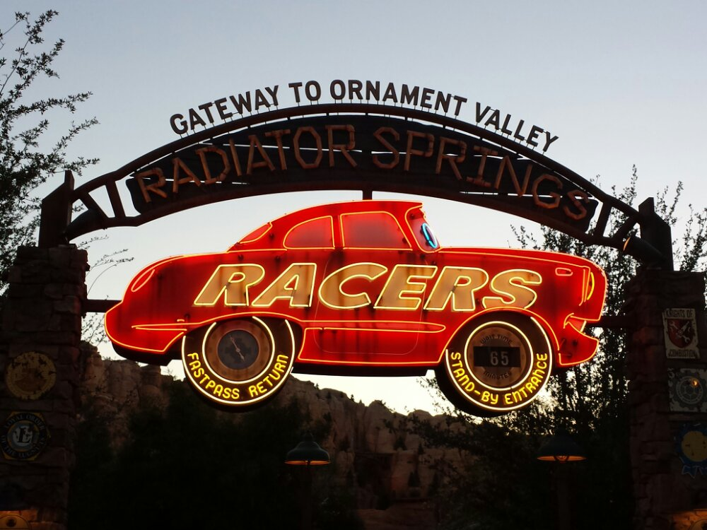 The Radiator Springs Racers reopened today after being closed most of the week for scheduled work, only 65 min