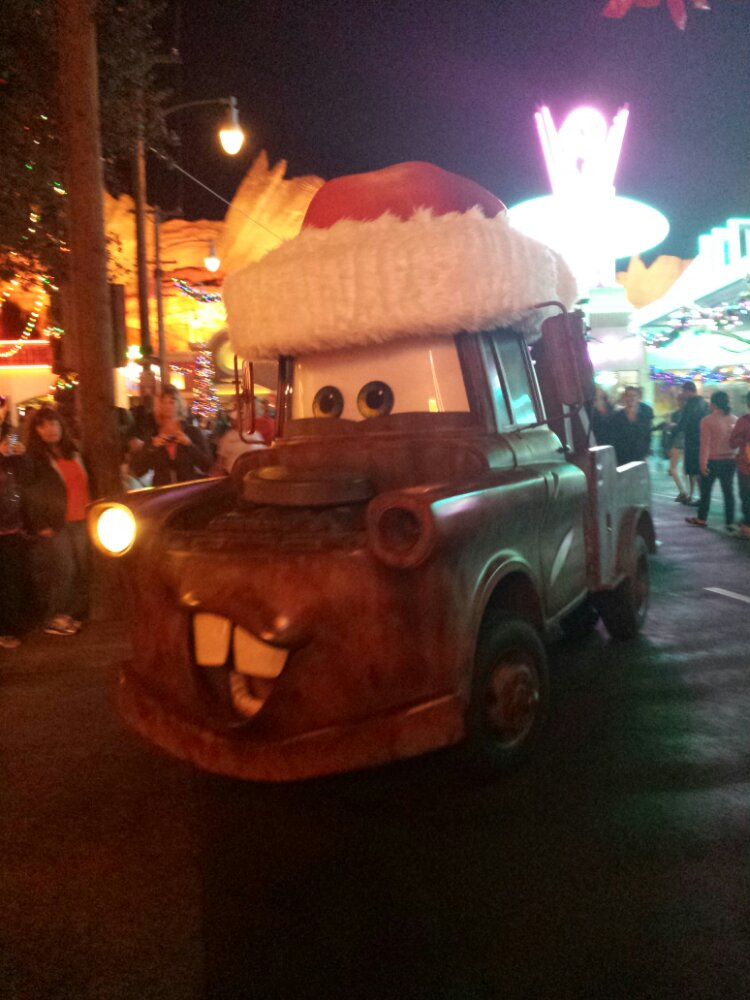 Santa Mater heading to the Cozy Cone #CarsLand @DCAToday