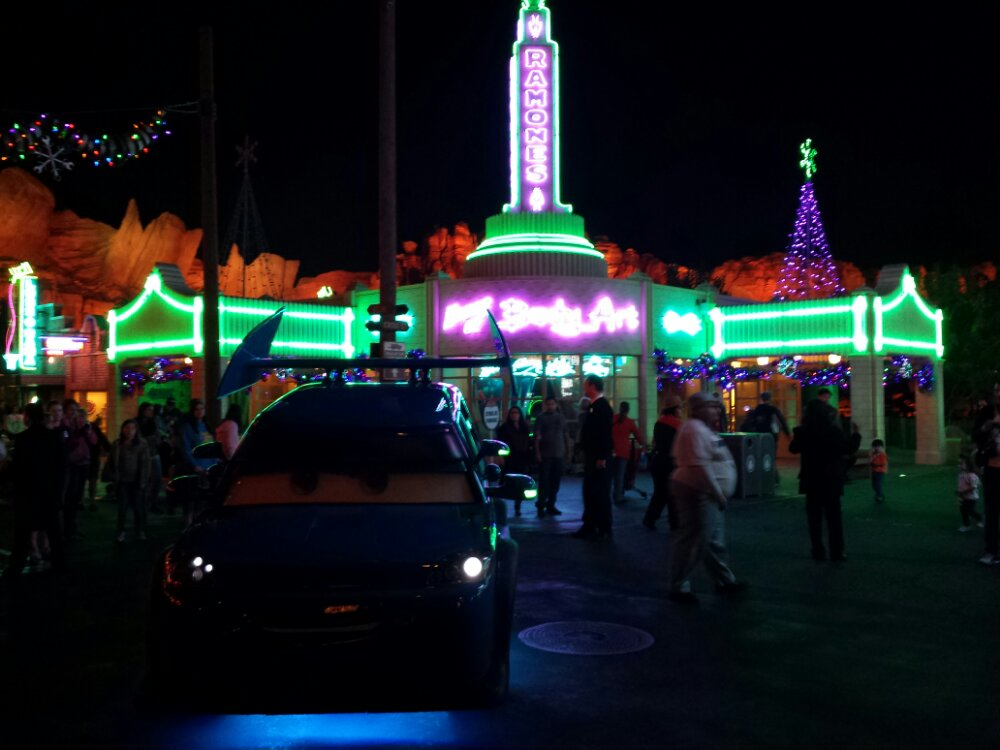 DJ rolled up for his dance party while I was at Cross Street #CarsLand