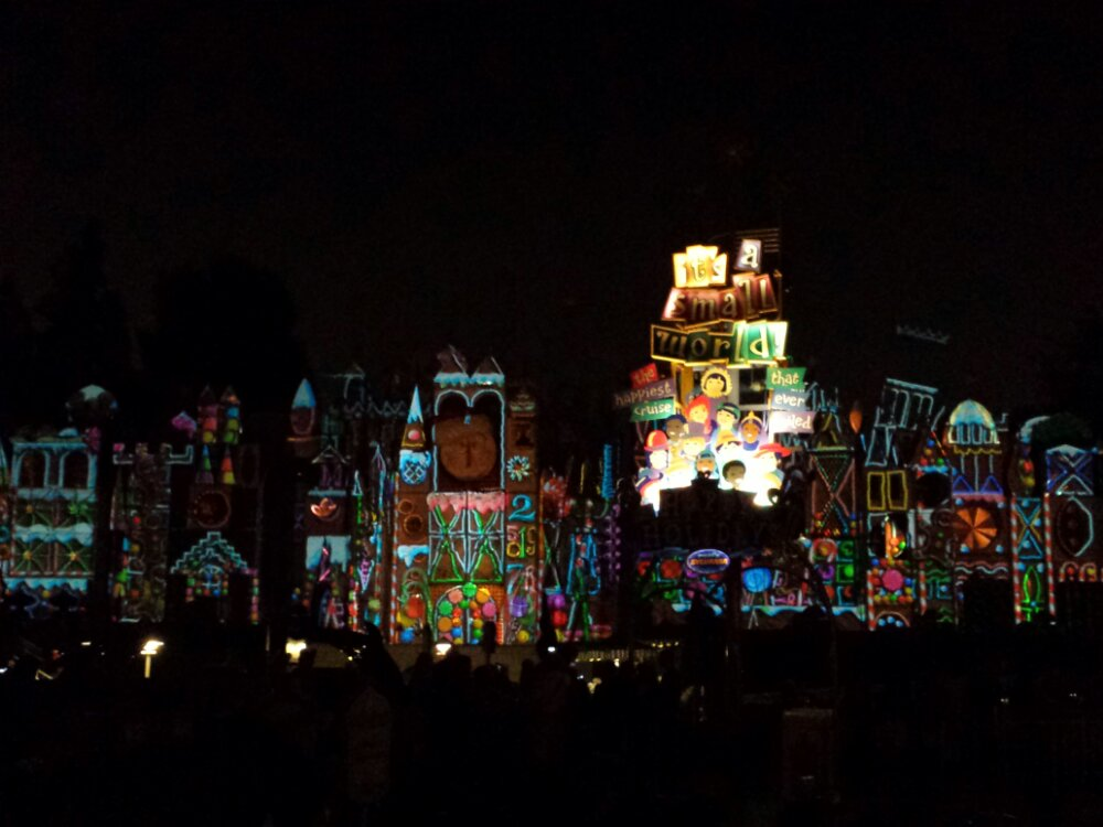 The new projection show on Small World is playing tonight, here is a still tomorrow I will post video