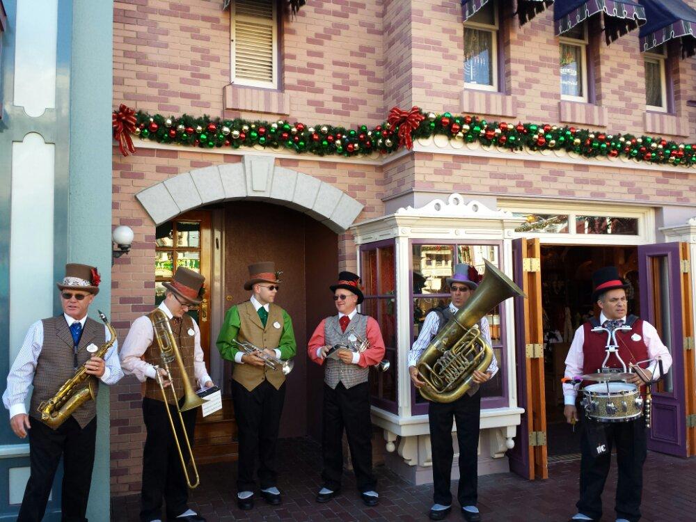 Performing a Christmas Waltz on Main Street USA