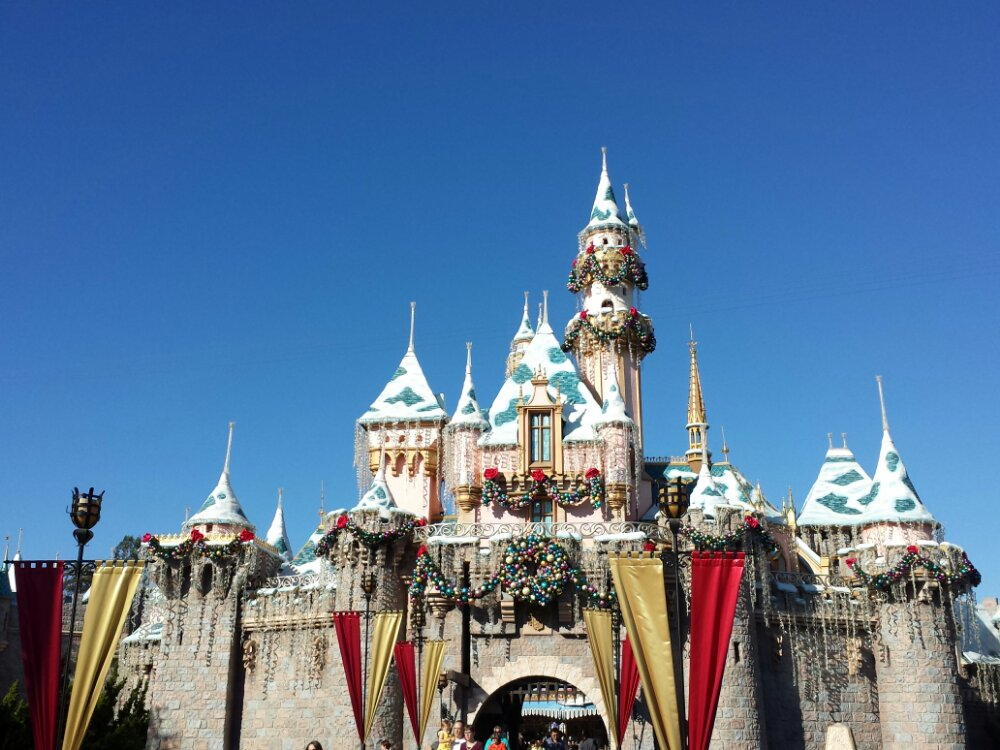 Sleeping Beauty Castle ready for the holidays