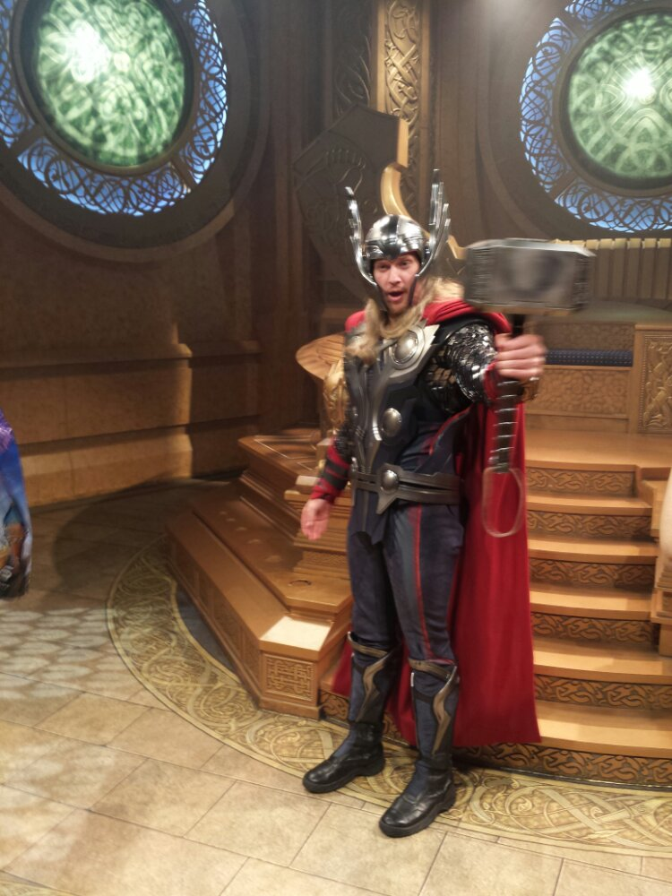 Stopped by Thor: Treasures of Asgard in Innoventions #DisneyHolidays