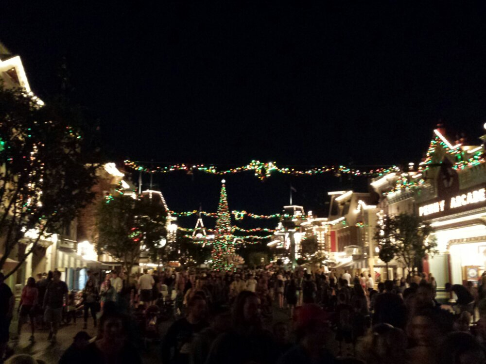Main Street USA this evening #DisneyHolidays