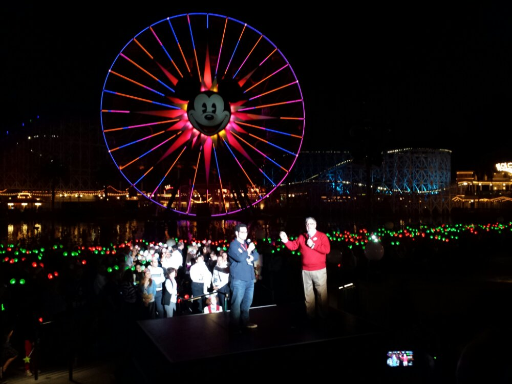 Steve Davison and Josh Gad introducing #WorldofColor Winter Dreams #DisneyHolidays