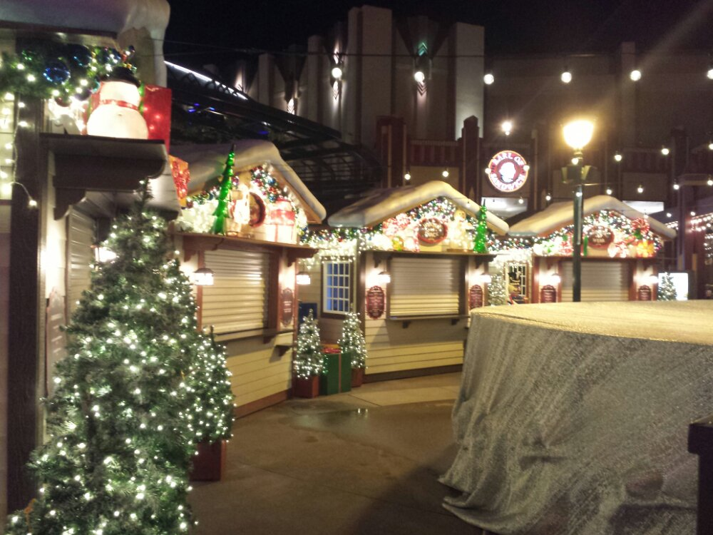 The winter village in Downtown Disney