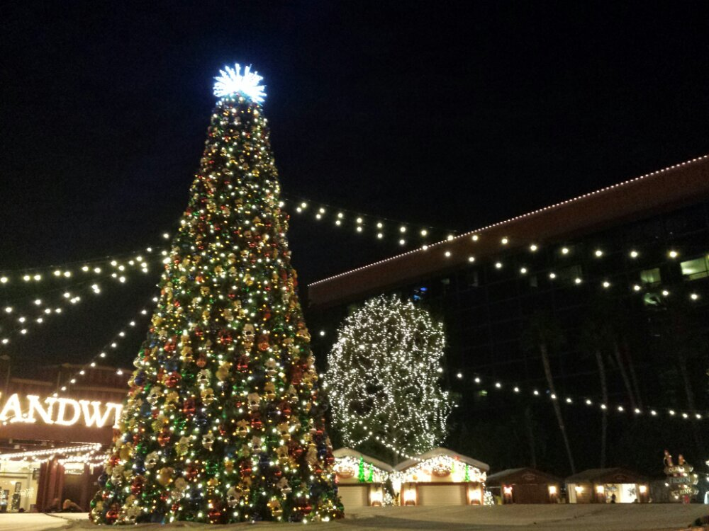 The Downtown Disney tree, my last pic of the night look for a full update and videos Friday evening.