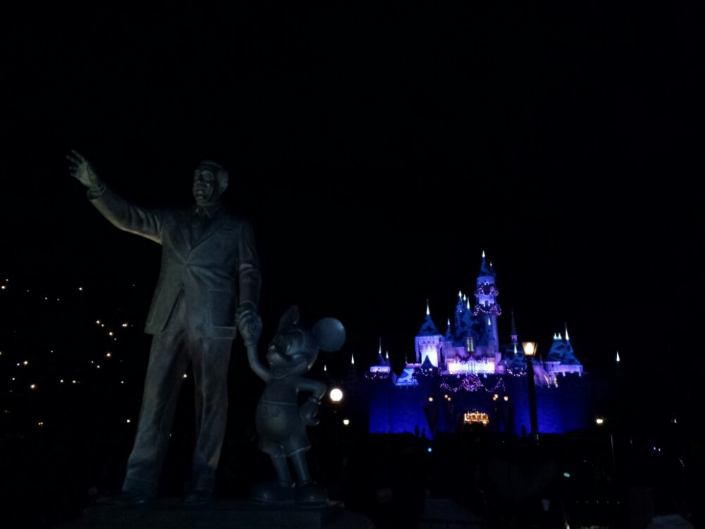 Walt, Mickey, and Sleeping Beauty Castle