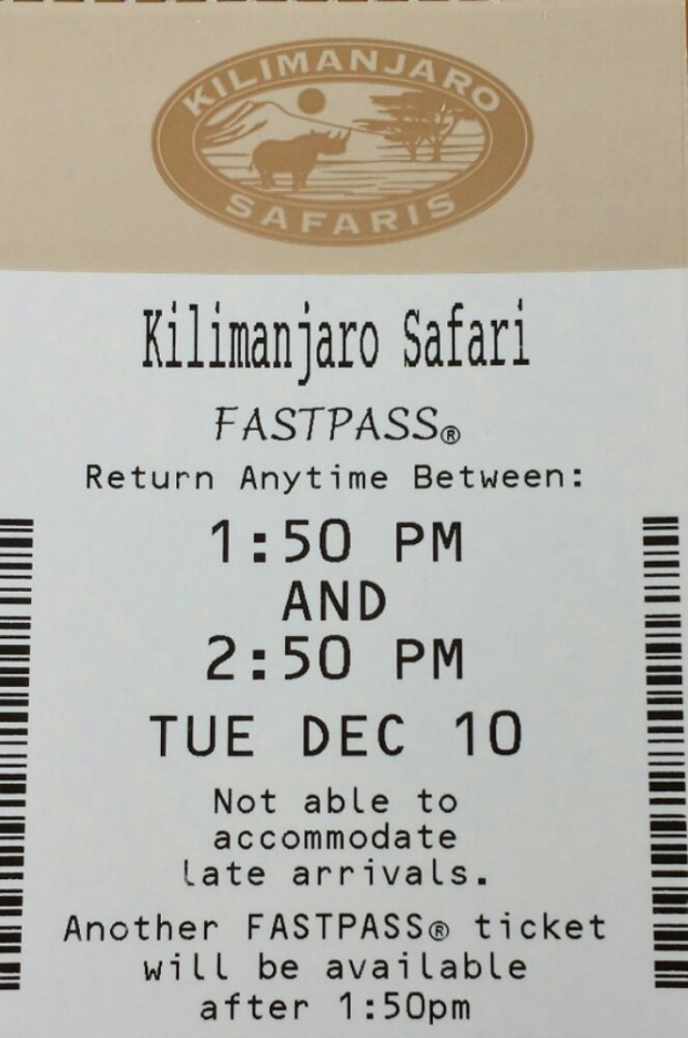 Kilimanjaro Safari Fastpass