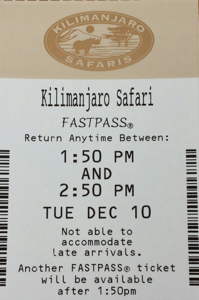 Odd.. just saw the return time fir Kilimanjaro Safari is the current time.  So choice is instant fastpass or 20 min standby